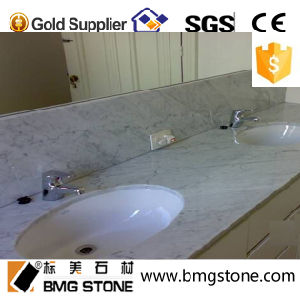Customize Bianco Carrara White Marble Countertop Vanitytop