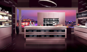 2017 Modern Rta Customized Lacquer Kitchen Cabinets (zz-014)