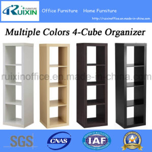 Multiple Colors Home Furniture 4-Cube Organizer/Bookcase/Bookshelf for Storage (Z150706-F)