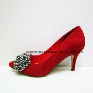 Sexy Women Fashion High Heel Lady Dress Shoes with Beads
