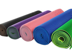 Wholesale Eco Friendly Non Slip Double Layers PVC Foam Yoga Mat pictures & photos