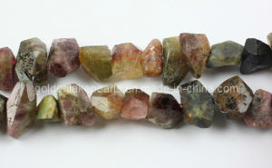 Tourmaline Faceted Central-Drilled Nuggets Gemstone Beads (SL72711)