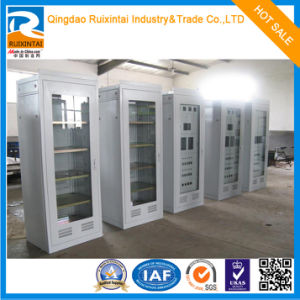 Upper Glass Lower Steel Metal Cabinet pictures & photos