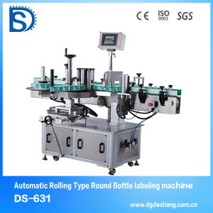 Ds-631 High Accuracy 1mm Labeling Machine for Round Bottle Double Side Labeling