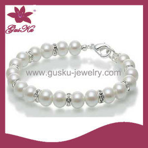 2015 Plb-001 Fashion Popular White Pearl Bracelet