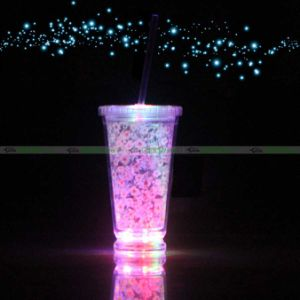 Whole Reusable Blink Glow Plastic Flashing Light Up Beer Led Cup Mug Tumbler With Straw Gl For Bar Party Custom Colorful Promotion Shot