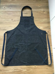 Custom Waterproof Waxed Canvas Work Bib Apron with Webbing Straps