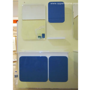 Lacquer Blue Lacquer Bathroom Cabinet (OP11-022-90)