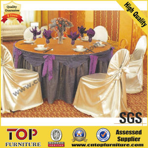 Polyester Wedding Chair Cover and Table Cloth pictures & photos