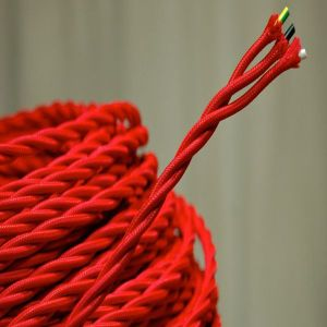 Red 3 Core Ultwisted Wire, Lamp Wire