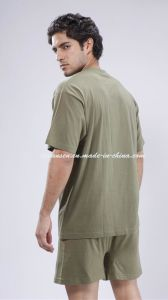 2015 Military Underwear Set in Olive Green V Neck pictures & photos