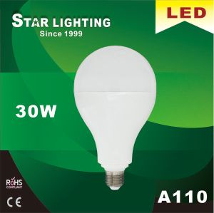 High Power 30W A110 LED Bulb with 200 Degree Beam Angle