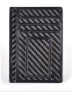 rfid security carbon fiber front pocket wallet magnet money clip card holder - Money Clip Card Holder