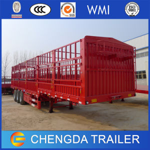 China 3 Axles Cargo Box Truck Trailer 60t Cargo Semi-Trailer pictures & photos