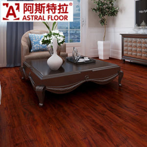 Single Click System 12mm Red Color Laminated Flooring pictures & photos