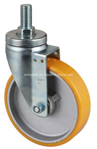 "Edl Medium 6"" 300kg Threaded Swivel TPU Caster 6736-86A"