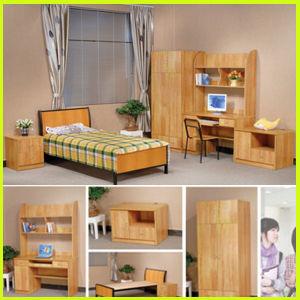 University Apartment Wooden Single Dormitory Furniture Set