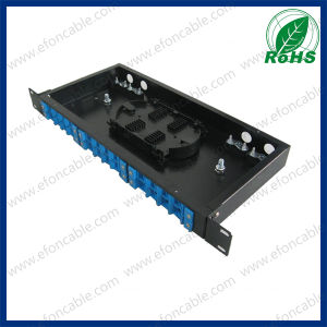 1u 19-Inch 24 Port Fiber Optic Rack Mount Termination Box pictures & photos