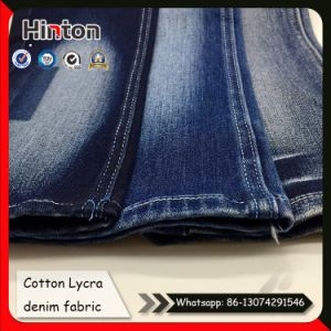 98/2 Cotton Lycra Terry Denim Fabric Satin Weave Jean Fabric pictures & photos