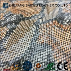 Good Colorfastness PVC PU Synthetic Upholstery Leather pictures & photos