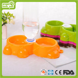 Double Bowl Pet Supplies High Quality Plastic Pet Bowl pictures & photos