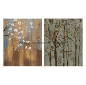Home Decor Printing Canvas Abstract Tree Hand Oil Canvas Painting pictures & photos