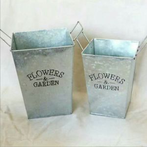Hot Sale Metal Flower Pot for Indoor and Outdoor Decoration