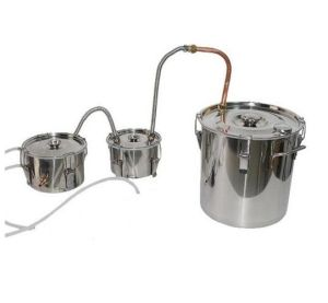 30L/8gal Stainless Steel Home Alcohol Double Distillation Equipment