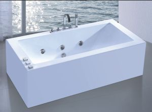 Square Jacuzzi Bathtub Sanitary Ware SPA (AT-9056) pictures & photos