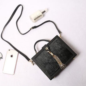 Ladies Cube Shoulder Ba G Suede Crossbody Women Leather Handbags Manufacture Emg4858 pictures & photos