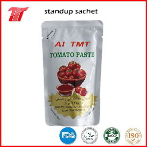 70g Al Mudhish Tomato Paste Pouches 22-24% pictures & photos