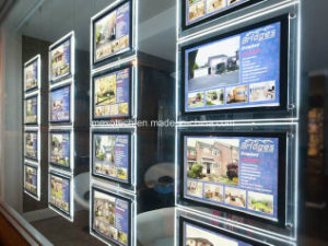 Acrylic LED Light Pockets for Real Estate Window Display pictures & photos