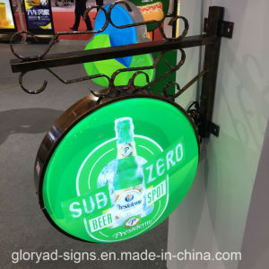 Acrylic Illuminated Beer Pub Light Box