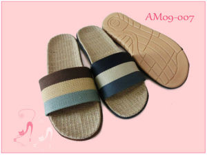 2017 New Hot Nice Indoor Home Flax Men and Wonmen Slipper pictures & photos