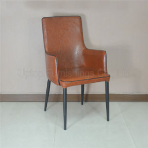 Wholesale Cafe Restaurant Used Brown Leather Arm Chair (SP-HC068) pictures & photos