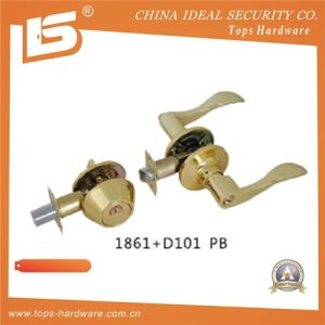 Door Tubular Door Cylindrical Lockset 1861+D101pb pictures & photos