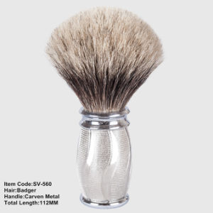 Luxury Silver Tip Metal Heavy Handle Sv-560 Customize Private Label Makeup Art Brush