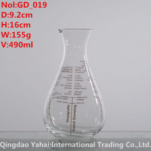 490ml Clear Colored Glass Decanter