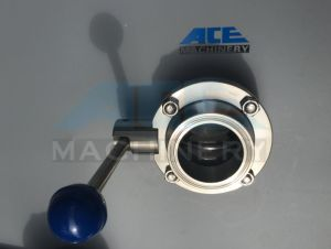 SS304/316L Stainless Steel Sanitary Manual Clamp Butterfly Valve with Clamp Ends pictures & photos