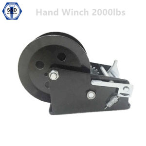 2000lbs Hand Winch Zinc Plated+Powder Coating