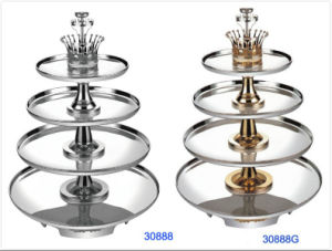 Deluxe 4-Tiers Stainless Steel Revolving Buffet Stand (30888/30888G) pictures & photos