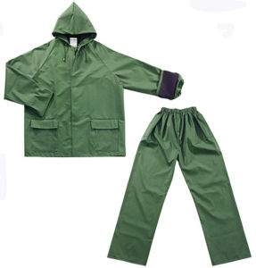 Functional Outdoor Rainsuit with PVC/Polyester Coating pictures & photos