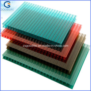 100% Original Material Green Polycarbonate Double Wall 4mm Sheets pictures & photos