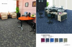 PP Material Modular Carpet Tile with Eco-Bitumen Backing pictures & photos