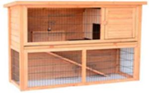 Rh402 Wooden Pet Poultry Rabbit House Hutch Container Storage Kennel Cage