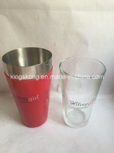 800ml/28oz Colorful PVC Boston Shaker /Cocktail Shaker/Mixer with Glass Cup pictures & photos