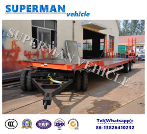 30FT 3 Axle Lowdeck Cargo Dolly Semi Trailer pictures & photos