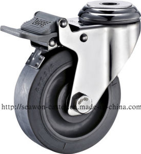 Stainless Steel Series - TPR Caster (Flat Rim) pictures & photos