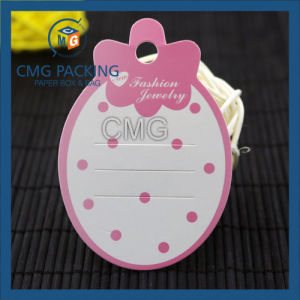 Printed Plastic Hangtag for Jewelry (CMG-041) pictures & photos