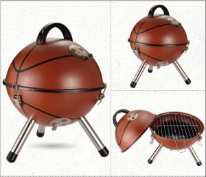 Football Shaped Mini Charcoal BBQ Grill for Camping pictures & photos